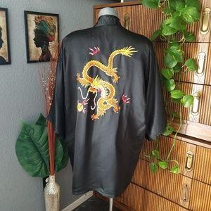 Vintage Kimono Black Size One Size